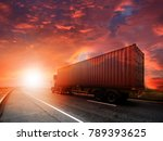 truck run on road ... | Shutterstock . vector #789393625