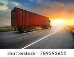 truck run on road ... | Shutterstock . vector #789393655
