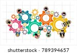 flat design illustration... | Shutterstock . vector #789394657