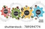 flat design illustration... | Shutterstock . vector #789394774