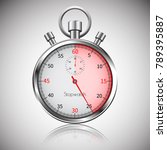 25 seconds. silver realistic... | Shutterstock .eps vector #789395887