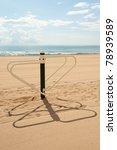 fitness machine on a beach   Shutterstock . vector #78939589