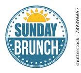 sunday brunch grunge rubber...   Shutterstock .eps vector #789396697
