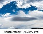 Ufo Shaped Lenticular Cloud...