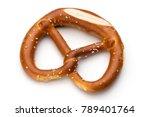 pretzel isolated on white.... | Shutterstock . vector #789401764