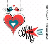 you and me template for banner...   Shutterstock .eps vector #789402181