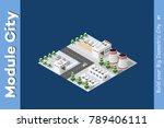 isometric of the modern city | Shutterstock .eps vector #789406111