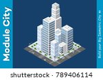 isometric of the modern city | Shutterstock .eps vector #789406114