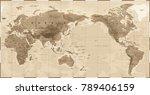 world map physical vintage  ... | Shutterstock .eps vector #789406159