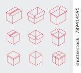 vector isometric post box set.... | Shutterstock .eps vector #789414595