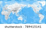 world map physical white   asia ... | Shutterstock .eps vector #789415141