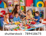 kids playroom organization of... | Shutterstock . vector #789418675
