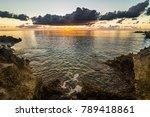 view to big volcanic rocks in... | Shutterstock . vector #789418861