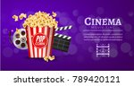 movie film banner design... | Shutterstock .eps vector #789420121