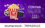 movie film banner design... | Shutterstock .eps vector #789420121