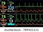 Stock photo vital sign ekg monitor 789421111