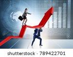 business people in economic... | Shutterstock . vector #789422701