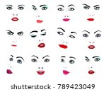 woman face vector portrait... | Shutterstock .eps vector #789423049