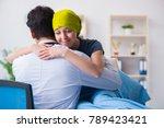 cancer patient visiting doctor... | Shutterstock . vector #789423421