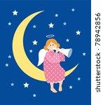 angel and moon. | Shutterstock .eps vector #78942856