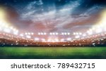 stadium in lights and flashes... | Shutterstock . vector #789432715