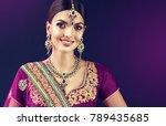 portrait of beautiful indian... | Shutterstock . vector #789435685