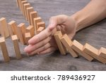 Hand Stopping Wooden Block...