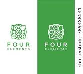 geometric vector  four elements ... | Shutterstock .eps vector #789438541