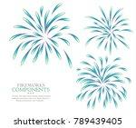 fireworks isolated white... | Shutterstock . vector #789439405