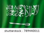 saudi arabia flag 3d of arabic... | Shutterstock .eps vector #789440011