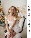 happy young blonde girl in...   Shutterstock . vector #789440317