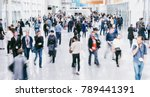 crowd of anonymous blurred... | Shutterstock . vector #789441391