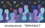 vector illustration of blog... | Shutterstock .eps vector #789443617
