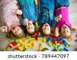 children in kindergarten | Shutterstock . vector #789447097