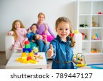 children in kindergarten | Shutterstock . vector #789447127