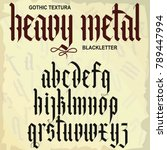 gothic font  medieval script ... | Shutterstock .eps vector #789447994