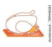 roast chicken design | Shutterstock .eps vector #789448381