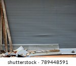 metal roller shutter door in... | Shutterstock . vector #789448591