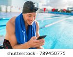 swimmer man with swimming cap... | Shutterstock . vector #789450775