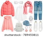 a set of fashionable clothes...   Shutterstock . vector #789453811
