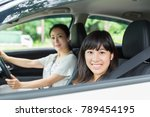 asian parent and daughter in a ... | Shutterstock . vector #789454195