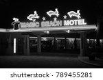 magic beach motel  st augustine ... | Shutterstock . vector #789455281