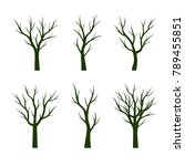 set green trees without leaves. ... | Shutterstock .eps vector #789455851