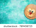 pancake with funny face for... | Shutterstock . vector #789458725