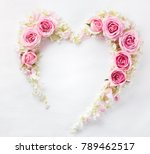 Heart From Fresh Rose Petal
