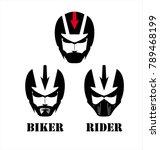 man with the helmet  masker  ... | Shutterstock .eps vector #789468199