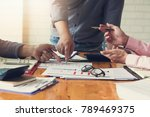 business and finance concept of ... | Shutterstock . vector #789469375