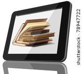 book and tablet computer 3d...   Shutterstock . vector #78947722