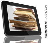 book and tablet computer 3d... | Shutterstock . vector #78947734