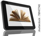 book and tablet computer 3d...   Shutterstock . vector #78947740